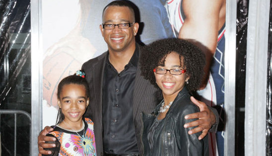 Stuart Scott and family