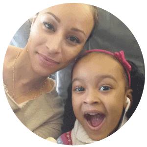 Karinne, traveling, career mom