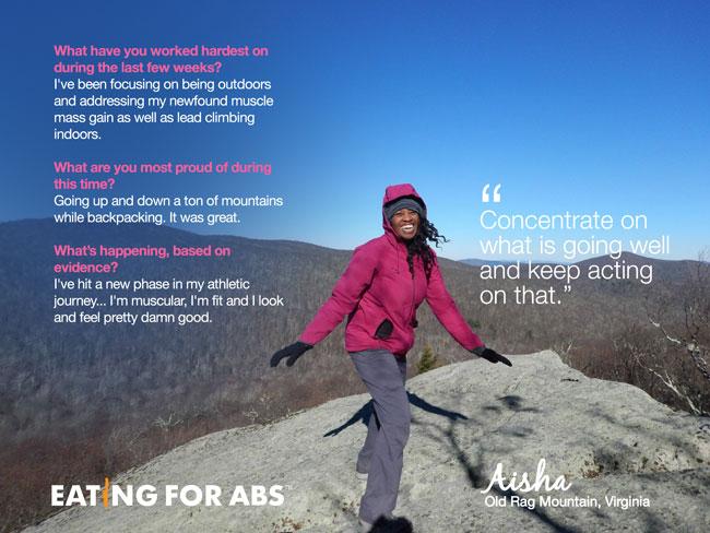 Aisha hiking